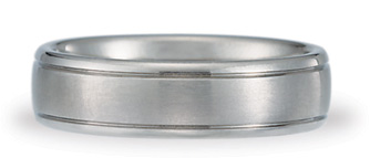 Benchmark Titanium Satin Wedding Band - Size 9 1/2