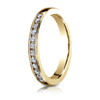 Channel Set 12 Stone Wedding Band Ring (.24 ct)