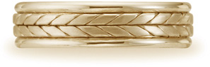 Benchmark Designer Wedding Band, 14K Yellow Gold (Apples of Gold)