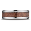 Cobalt 8mm Comfort-Fit Rosewood Inlay Cobalt Ring