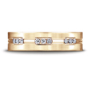 Etched Channel Set 18-Stone Diamond Eternity Wedding Ring (.36ct) in 14K Rose Gold