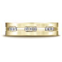 Etched Channel Set 18-Stone Diamond Eternity Wedding Ring (.36ct) in 14K Yellow Gold