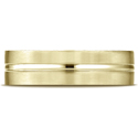 14K Yellow Gold Satin-Finished with High Polished Center Carved Wedding Band