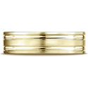10K Yellow Gold Comfort-Fit Satin-Finished Parallel Grooves Band