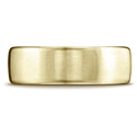 14K Yellow Gold Plain 7.5mm Comfort-Fit Satin Finish Wedding Band Ring