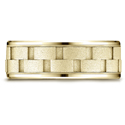 14K Yellow Gold Comfort-Fit Brick Design Wedding Band Ring