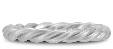 Buy Platinum Weaved Rope Wedding Band