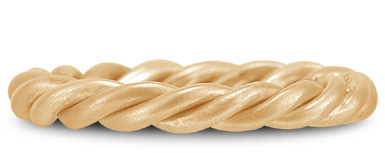 Weaved Rope Wedding Band in 14K Yellow Gold (Wedding Rings, Apples of Gold)