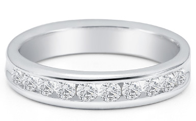 Men's 3/4 Carat Diamond Wedding Band (Rings, Apples of Gold)