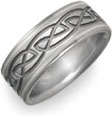 celtic platinum titanium wedding band