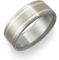 Titanium and 18K Yellow Gold Wedding Band