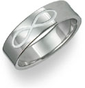 7mm Titanium Infinity Symbol Wedding Band Ring