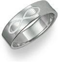 Titanium Infinity Symbol Wedding Band Ring