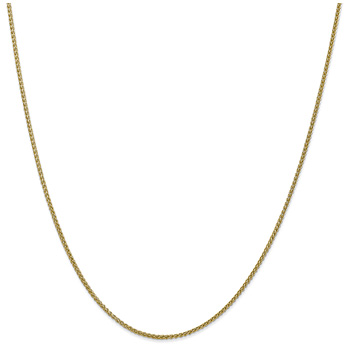 1.5mm Wheat Chain Necklace, 14K Gold
