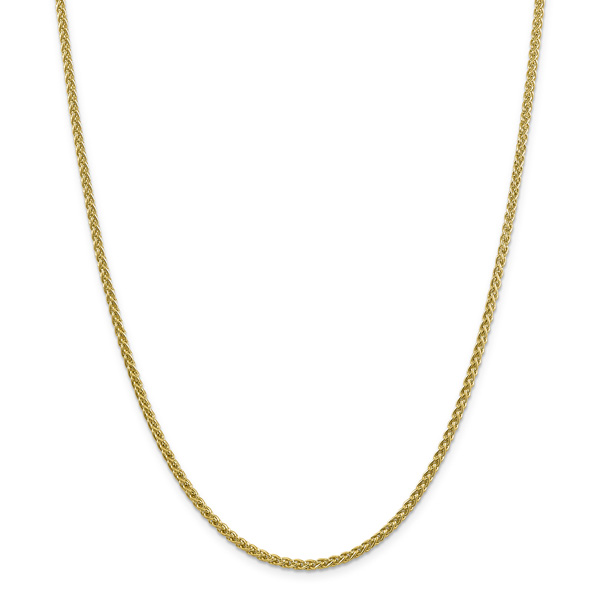 2.75mm 14K Gold Wheat Chain Necklace