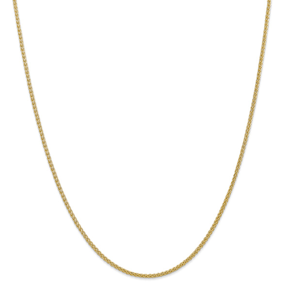 2mm 14K Gold Wheat Chain Necklace