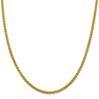 3.5mm 14K Gold Wheat Chain Necklace