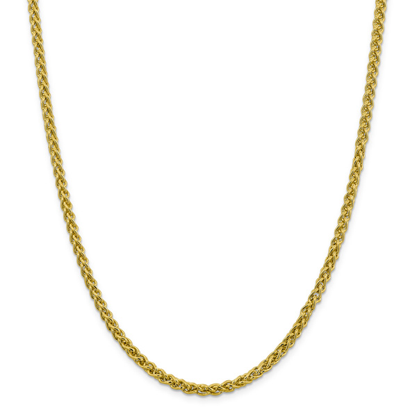4mm 14K Gold Wheat Chain Necklace
