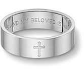Christian wedding band ring