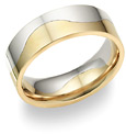 two halves one flesh two tone wedding band