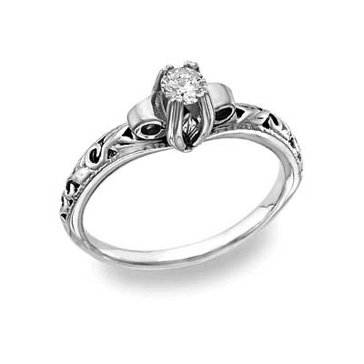 Apples of Gold Art Deco 1/2 Carat Diamond Ring - Platinum at Sears.com