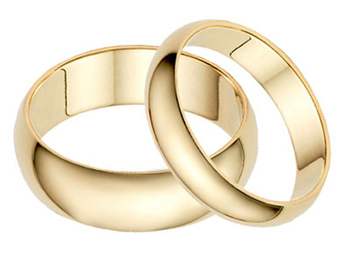 plain yellow gold wedding rings