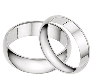 plain wedding rings white gold