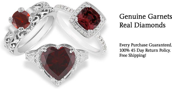 Featured Garnet Rings