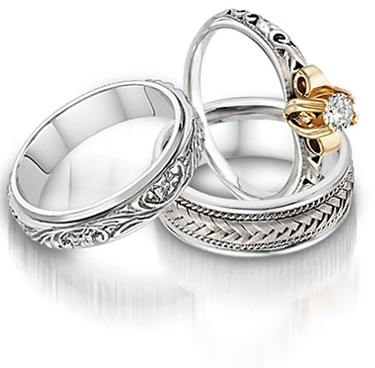 cheap wedding jewelry celtic wedding ring sets popular women