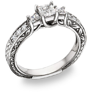 synthetic diamond engagement rings