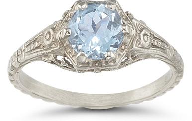 vintage aquamarine gemstone rings