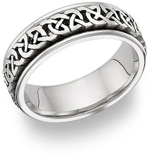 celtic platinum wedding band