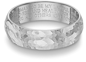 hammered wedding vow ring