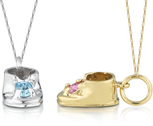 personalized baby shoe pendant