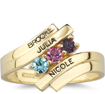 personalized gemstone mother ring