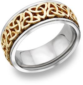 Trinity Knot Celtic Wedding Band