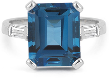5 carat london blue topaz and diamond ring