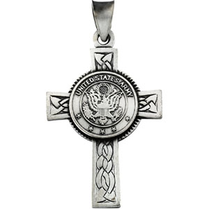 us army cross pendant sterling silver