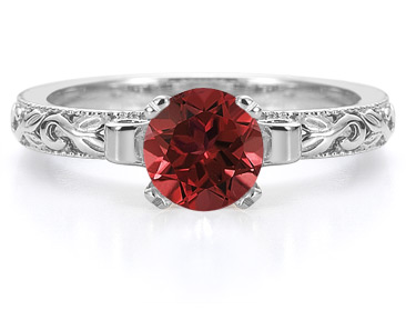1 carat ruby art deco ring