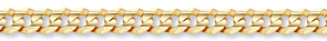 gold curb chain 14k solid