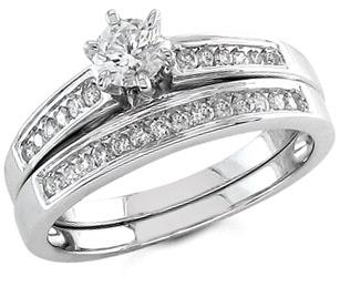 half carat diamond bridal ring set