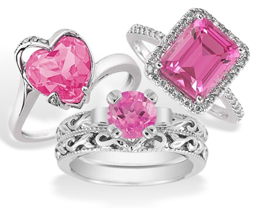 Pretty In Pink Topaz Rings