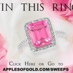 Win a Pink and White Topaz Ring for Christmas!