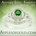 Engaging Emerald Rings to Symbolize Growing Love