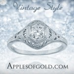 Vintage Diamond Rings for a Silent Night