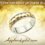 Heart Wedding Rings to Represent the Greatest Love of All