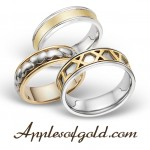 Two-tone Wedding Bands: Complementary Contrast