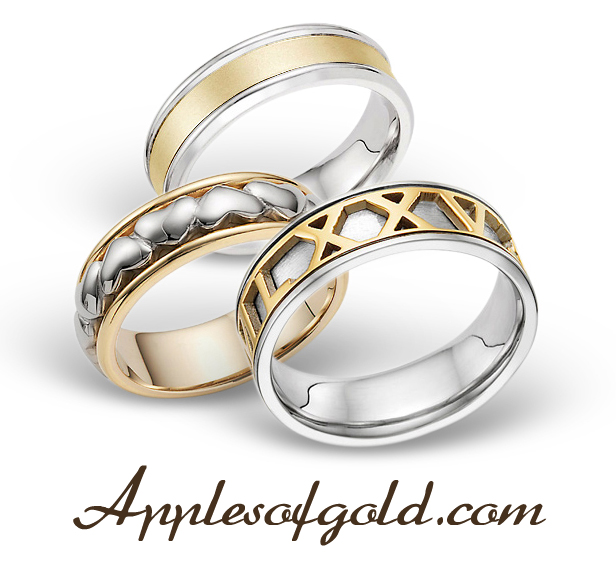 Two Tone Wedding Bands Complementary Contrast