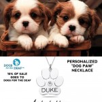 Buy a Dog Paw Pendant and Support Dogs for the Deaf!