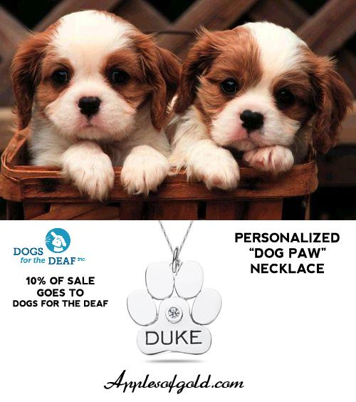 Buy a Dog Paw Pendant and Support Dogs for the Deaf